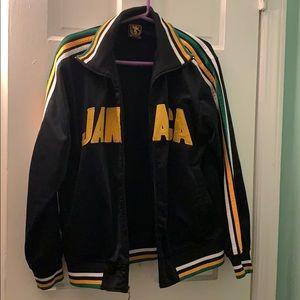 """JAMAICA"" Black Sports Futbol Jacket"